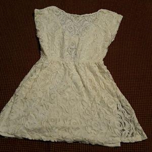 Medium juniors dress love fire white lace